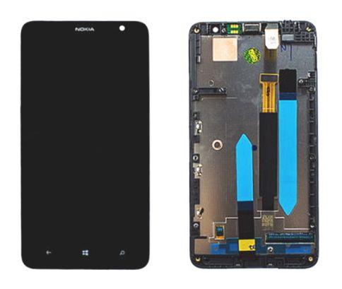 Display, LCD displej pro Nokia 1320 Lumia - lepený komplet