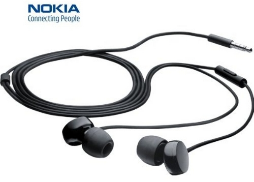 Stereo sluchátka pro Nokii, na Nokia 735 Lumia anatomická ORIGINÁL