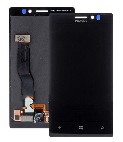 Nokia Lumia 925 LCD displej + dotyková deska, plocha - komplet lepený