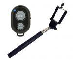 SELFIE tyč + držák pro smartphone + bluetooth ovladač - černá